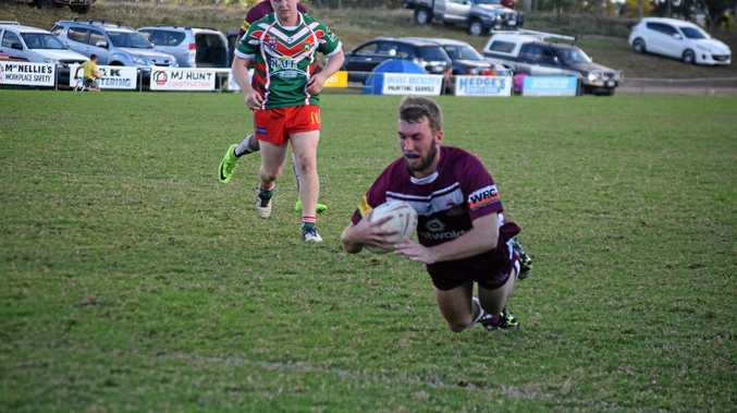 TRY TIME: Dalby's Jed Bryers could line up for the Diehards in the reserve grade preliminary final.