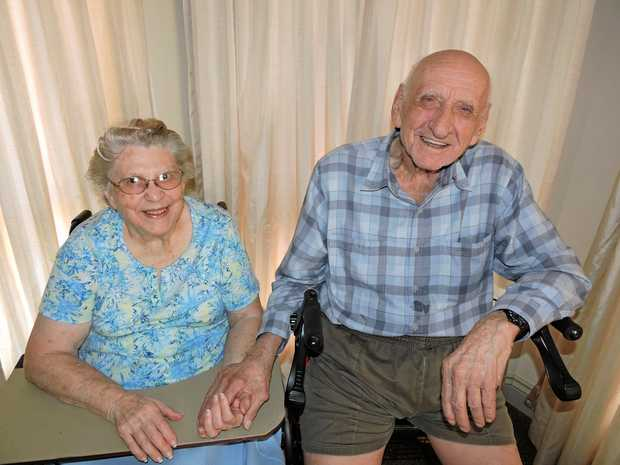 Hard work, keeping busy and never going to bed angry is how Hervey Bay's Ken and Maisie Briskey have enjoyed and committed  to 70 years of wedded bliss.
