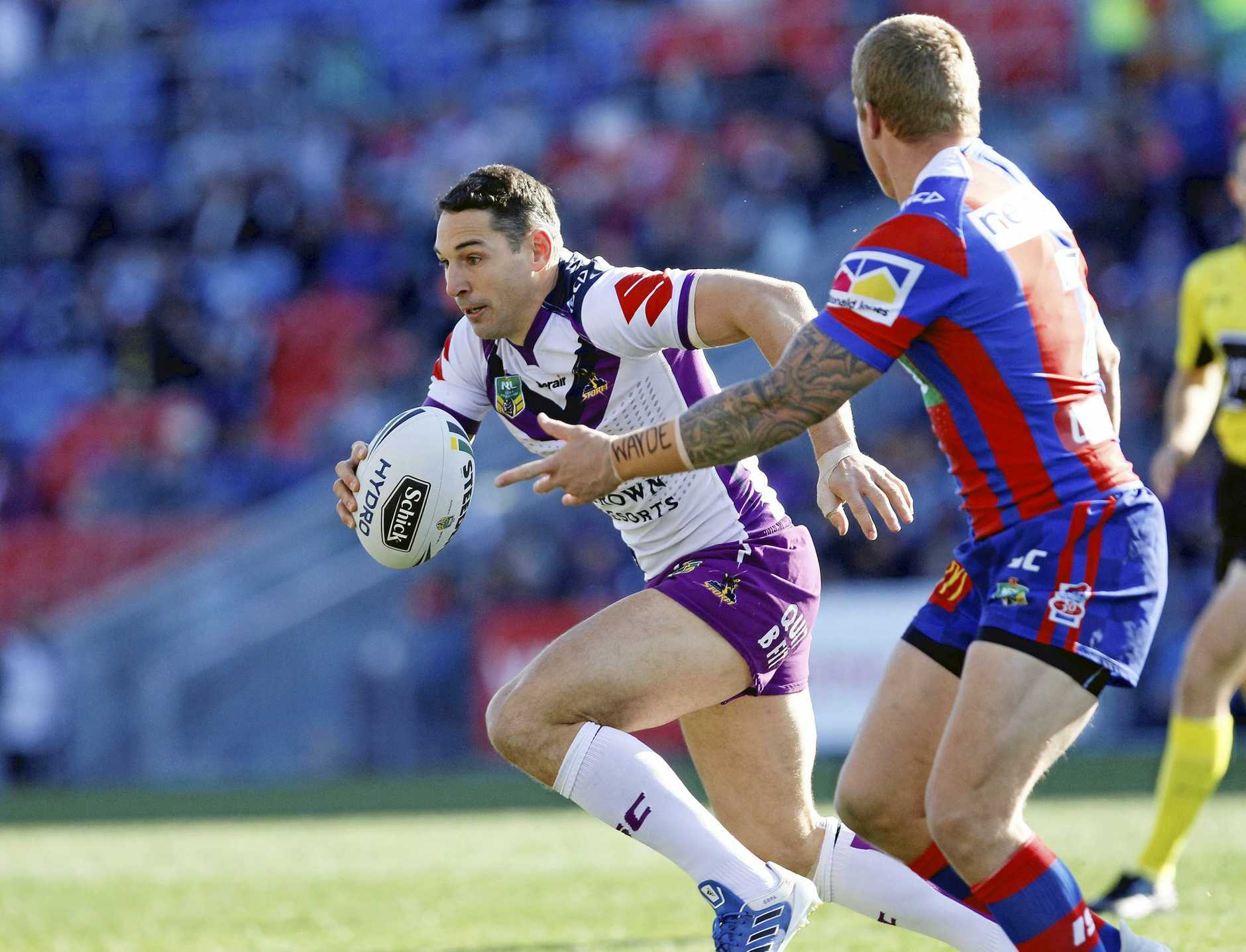 Still got it ... Billy Slater in action for the Storm last weekend.