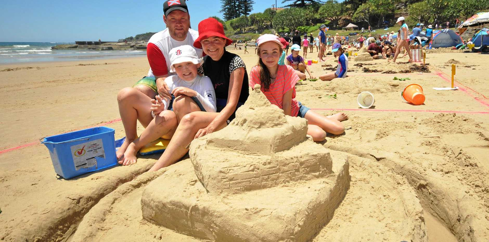 Yamba's golden beaches are a big drawcard for tourist and local families alike.