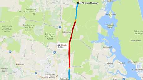 Major delays on the Bruce Highway.
