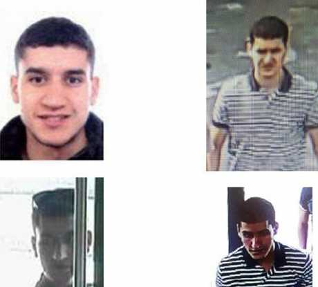 A police handout of Younes Abouyaaqoub uses CCTV footage to identify the man they hav enamed as the driver of the van that ran down pedestrians in Barcelona injuring more than 100 and killing 13.