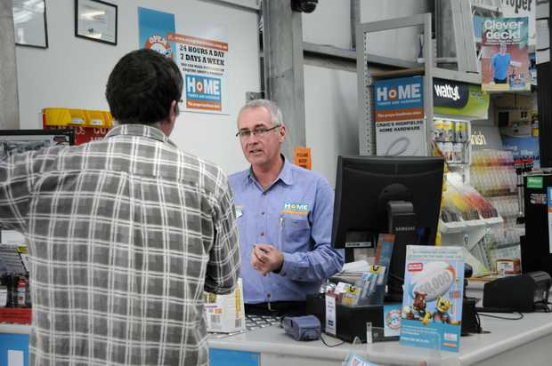 Craig's Highfields Home Hardware owner Craig Stibbard talks about the effect of bigger hardware stores taking over. Photo: Bev Lacey / The Chronicle