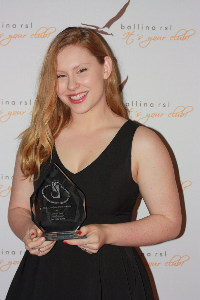 Goonellabah teen Lucinda Gray won the Female Vocal award at the NCEIA Dolphin Awards 2015.