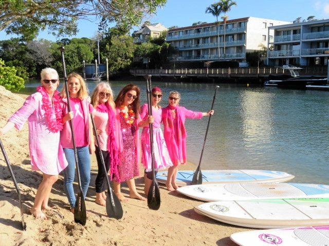FUN THERAPY: Noosa's annual Paddle in Pink is on again, with a record number of paddlers expected to join in to raise money to find a cure for breast cancer.