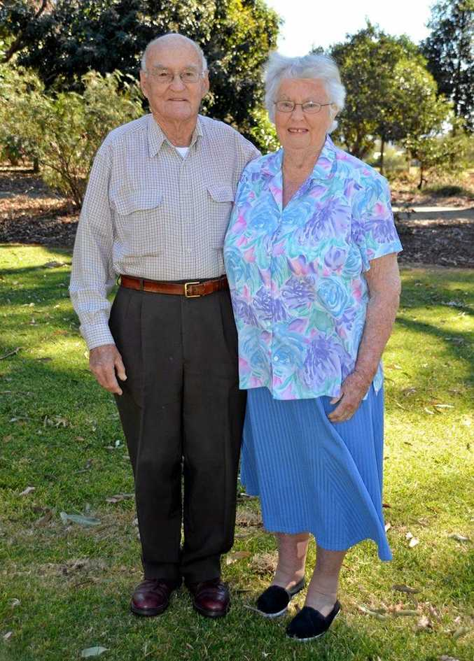 HAPPY ANNIVERSARY: Toowoomba couple Doug and Glynn Young celebrated their 60th Wedding Anniversary on August 24.