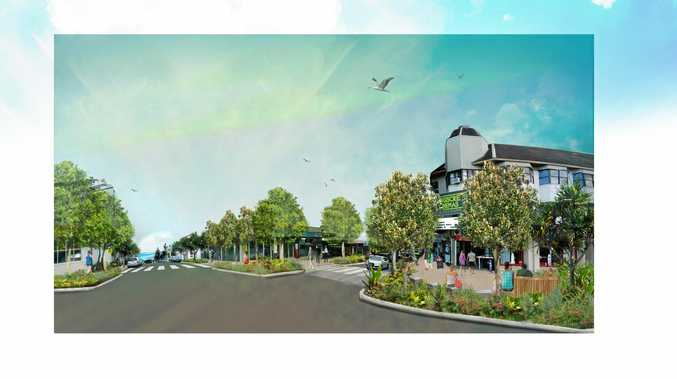 Plans for streetscape works at Bulcock St in Caloundra will be on display until Thursday.