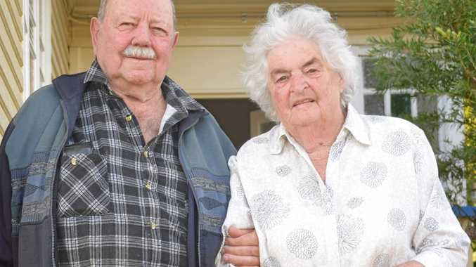 GOOD LIFE: Henry Allan Meyer and his wife of 60 years Thelma at their Bouverie St home in Mundubbera.
