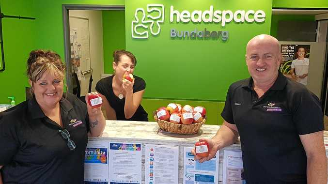 STAFF: Sean Connelly, Kim Dawson and Cristel Simmonds at United Synergies new headspace Bundaberg Centre.