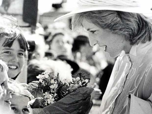 TRIBUTE: Princess Diana on her only visit to the Sunshine Coast in 1983.