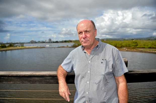 CONCERNS: Engineer Malcolm Brassey raised concerns about the Maroochy River and the impact of Twin Waters West, at last night's meeting.