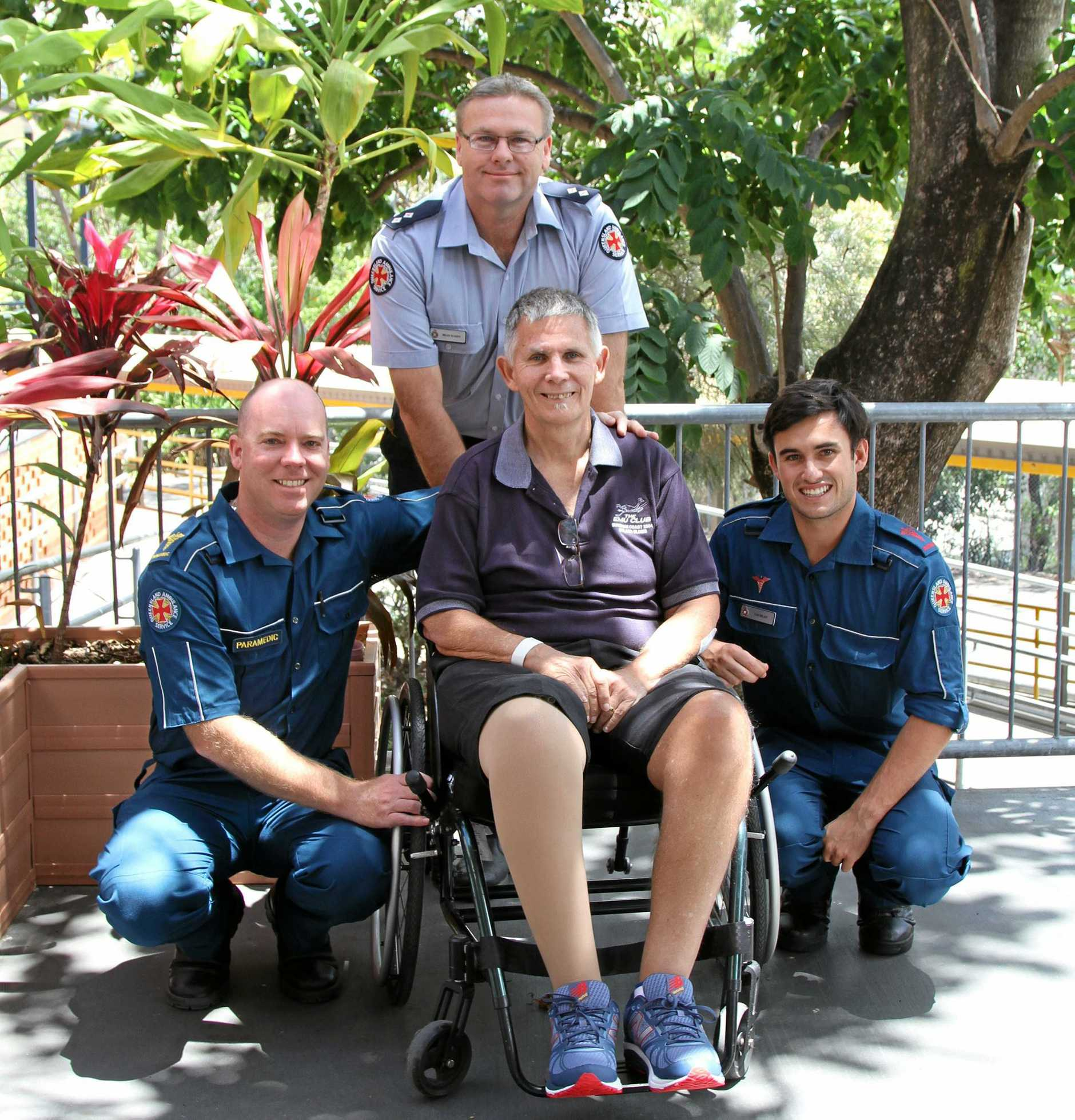 Graham was reunited with the paramedics who came to his aid in August 2016.