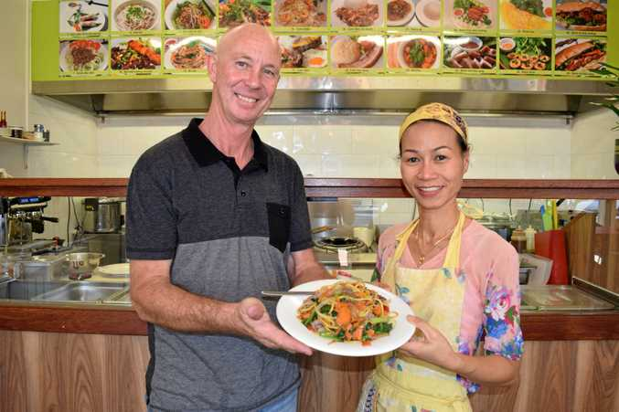TASTY: Kevin Vincent and Thao Fishburn are proud of the success of their new restaurant.