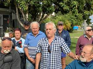 Residents of the Military Jetty Caravan Park fear they will be left homeless if the site sells.
