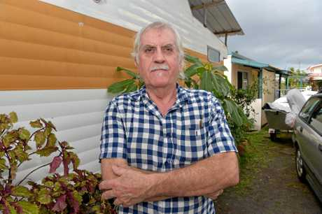 Bob Wilson is concerned he will lose his home at the Military Jetty Caravan Park if the park is sold.