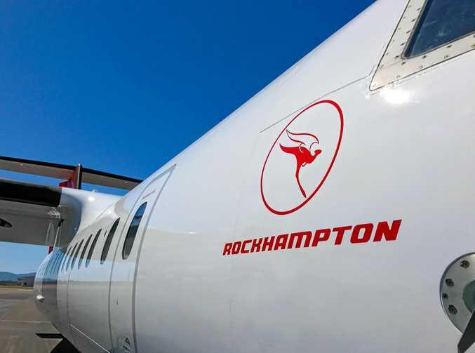 QantasLink has named one of its regional fleet aircraft 'Rockhampton'.
