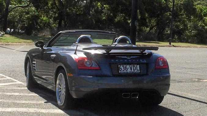 The unique Chrysler Crossfire convertible was stolen from a Glenella business.