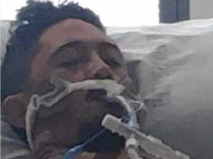 Dad's shock near-death experience after flu hits