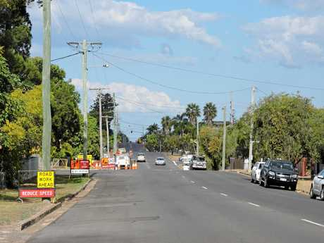 Road works are in full swing along Kent St in Maryborough.