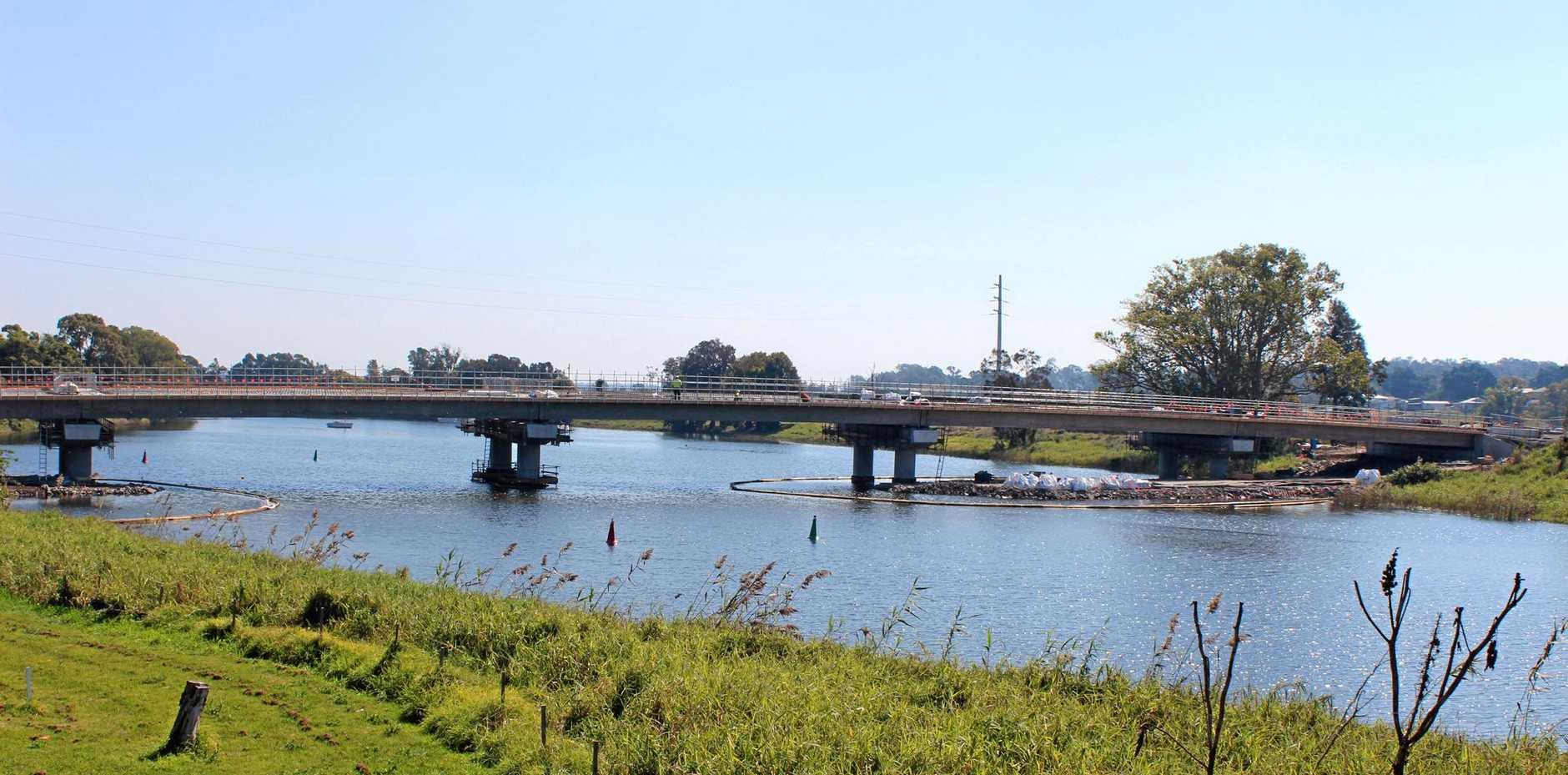 BRIDGING THE GAP: The new Sportsman Creek bridge is progressing well.