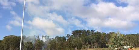 A large permitted fire has sparked fear in Sunshine Coast residents this morning.