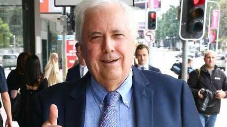Clive Palmer is at Brisbane Supreme Court defending his assets from being frozen by the government liquidator. Picture: Liam Kidston