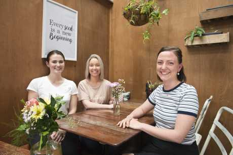Small business owners (from left) Madeleine Hulcombe, Emma Creed and Jess Greer are holding Spring Riot, a brunch fundraiser at Little Seed for social enterprise The Mulberry Project, Wednesday, August 23, 2017.