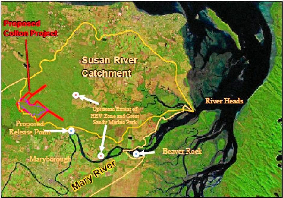 Proposed Colton coal mine map.