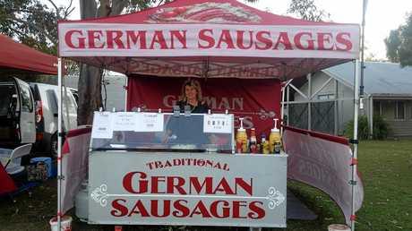 Ingrid Siek at her German sausages stall.