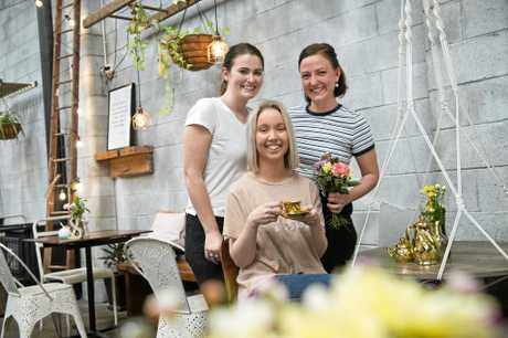 BEAUTIFUL BRUNCH: Small business owners (from left) Madeleine Hulcombe, Emma Creed and Jess Greer are holding Spring Riot, a brunch fundraiser at Little Seed for social enterprise The Mulberry Project.