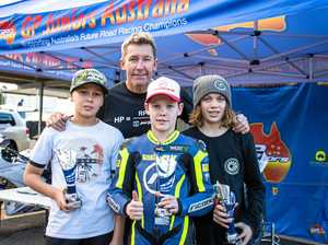 GP junior riders race along with superbikes at Morgan Park