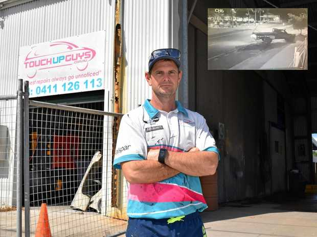 NOT HAPPY: Owner of Mackay Touch Up Guys Daniel Mayfield was devastated to find that his business was targeted by a car thief.