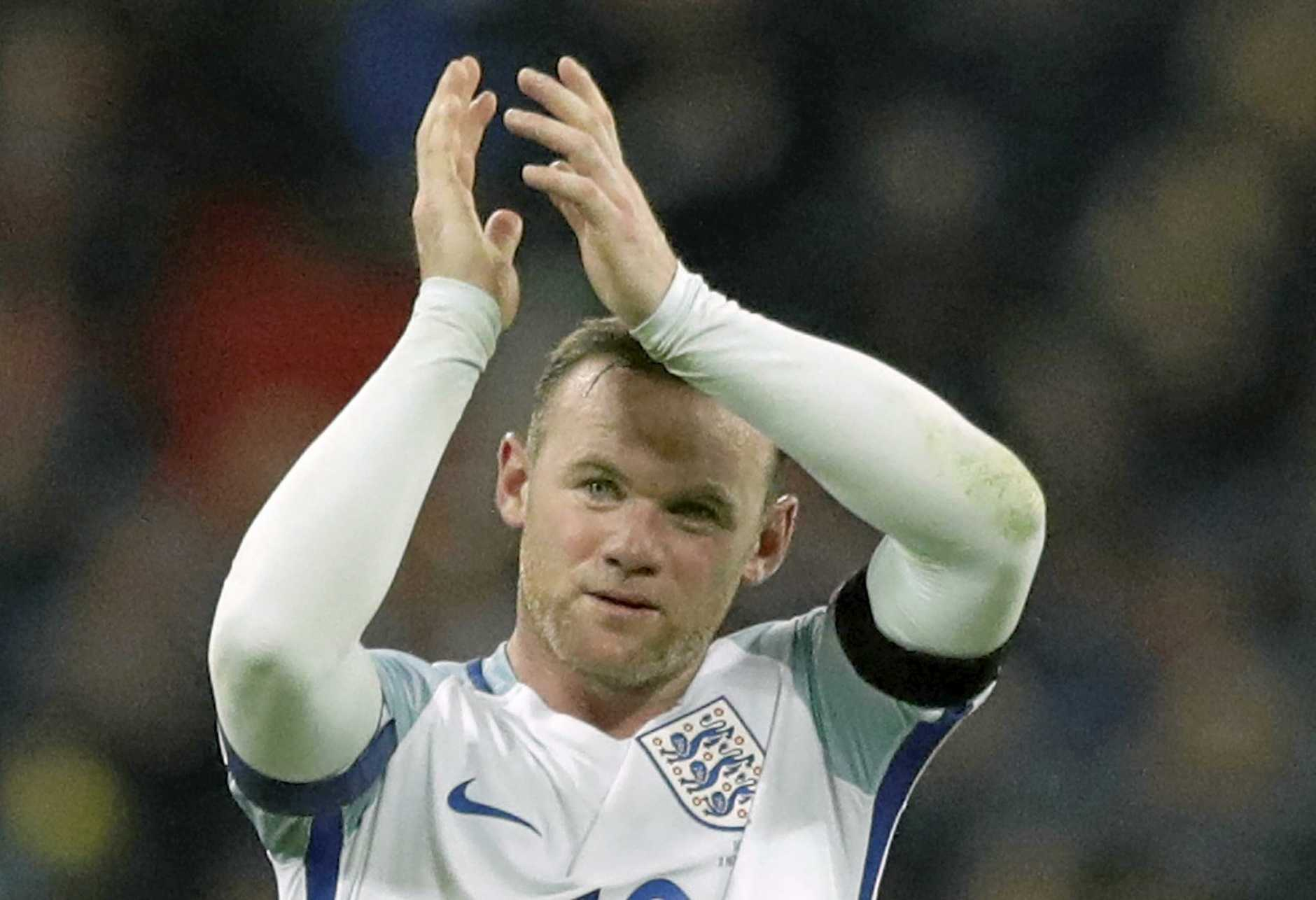 England's Wayne Rooney after a World Cup qualifier against Scotland at Wembley last year.