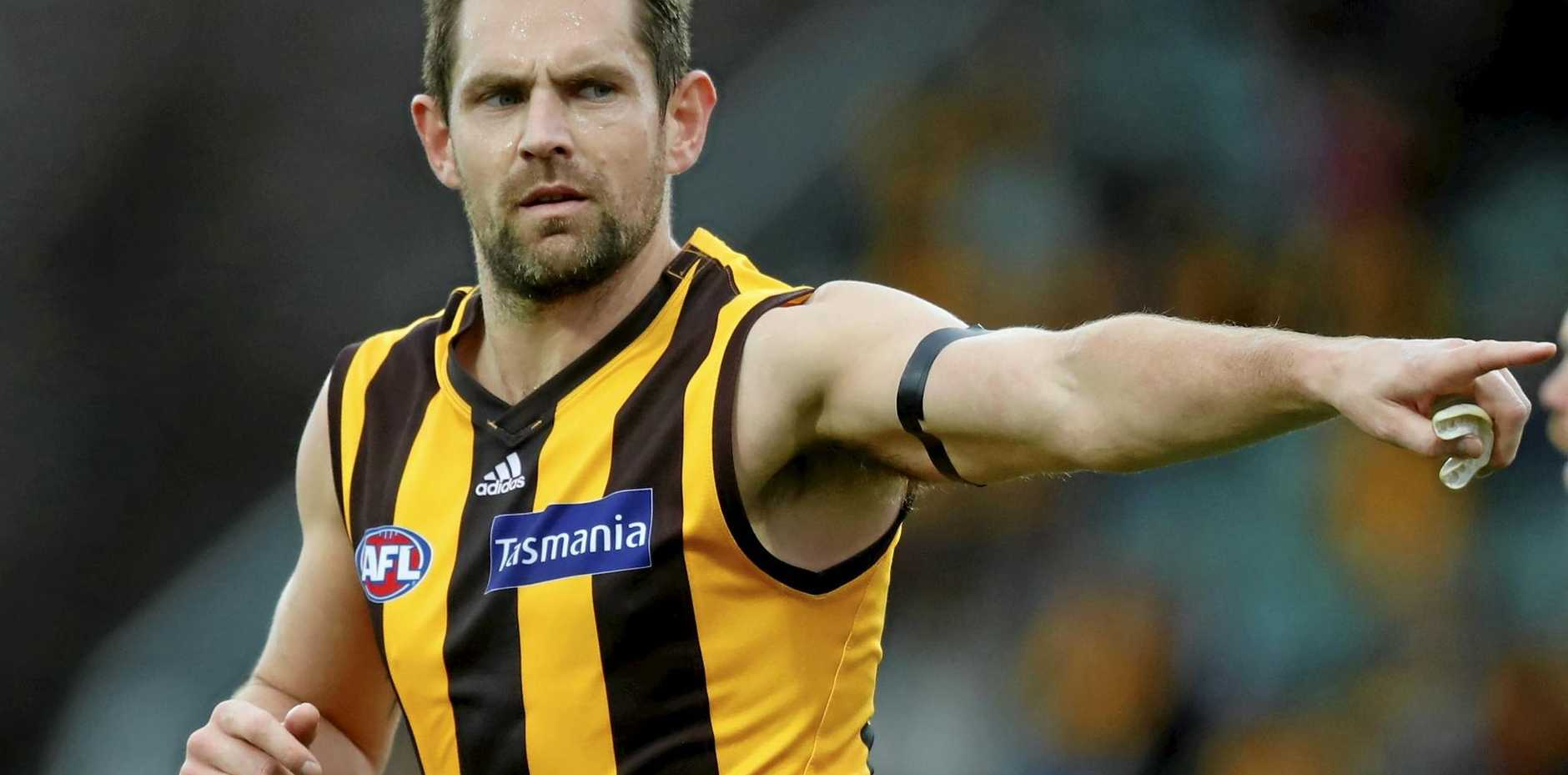 Luke Hodge of the Hawks will play his last AFL game this weekend.