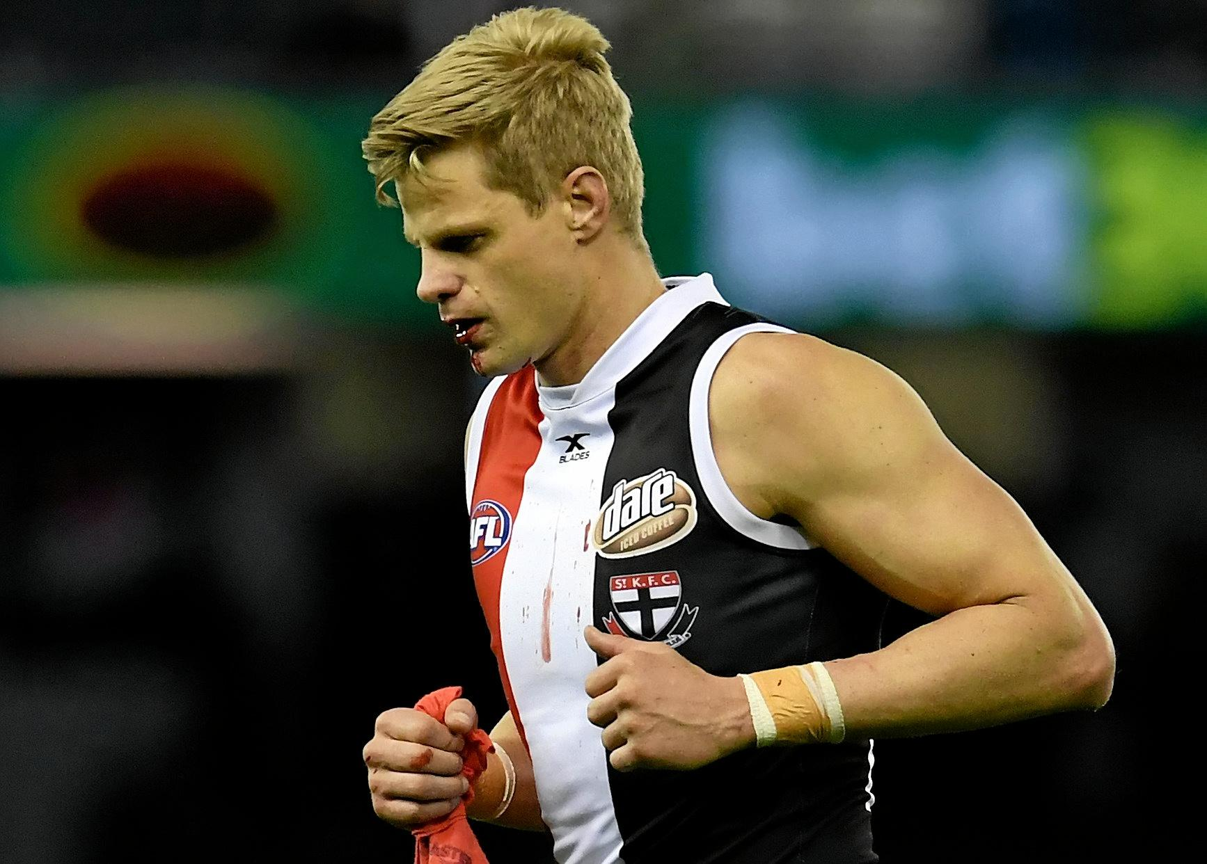 Nick Riewoldt of the Saints could be playing his last game this weekend.