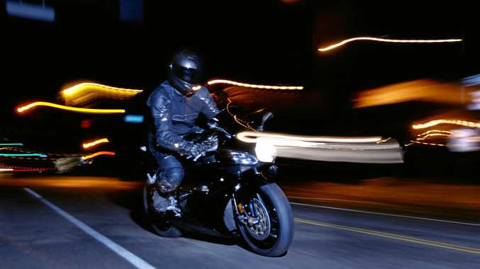 A man has been fined for riding 64kmh over the limit on the Sunshine Mwy. File photo.