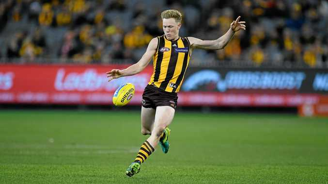 James Sicily of the Hawks was targeted by Carlton last week.