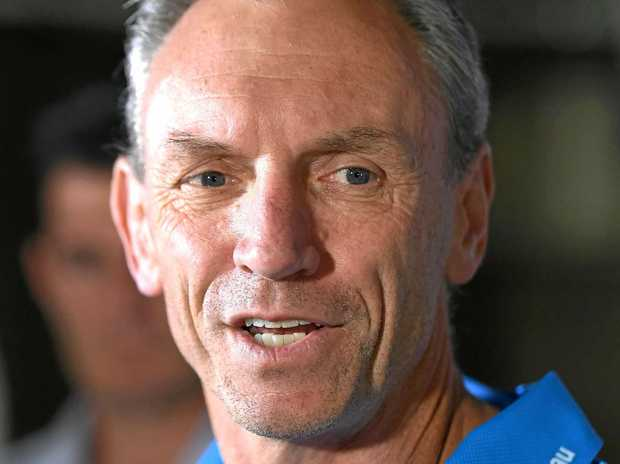 Sacked Gold Coast Titans coach Neil Henry during a press conference.