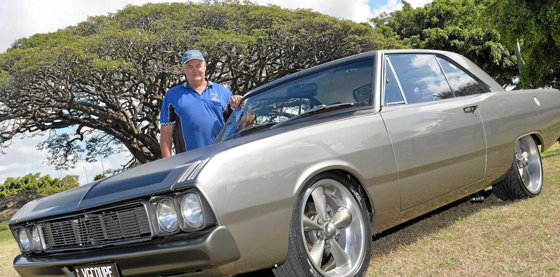 Jack Nipperess and his 1971 VG Valiant Coupe.