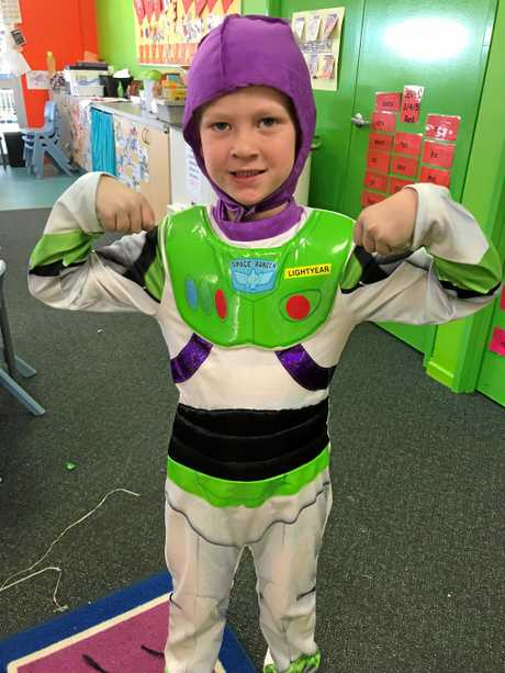 To infinity and beyond, Wyatt Opitz enjoys the festivities of the Prep Disney themed day at St Mary's Primary.