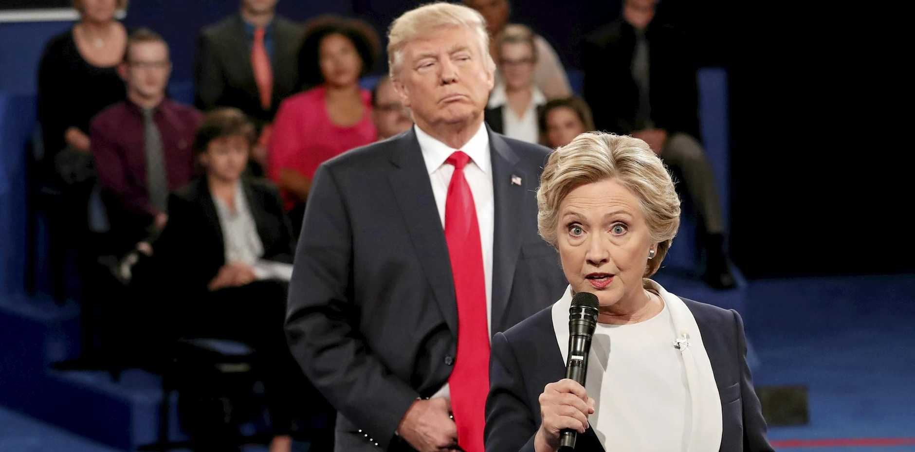 Defeated Democratic presidential nominee Hillary Clinton has accused Donald Trump of invading her space during their second debate.