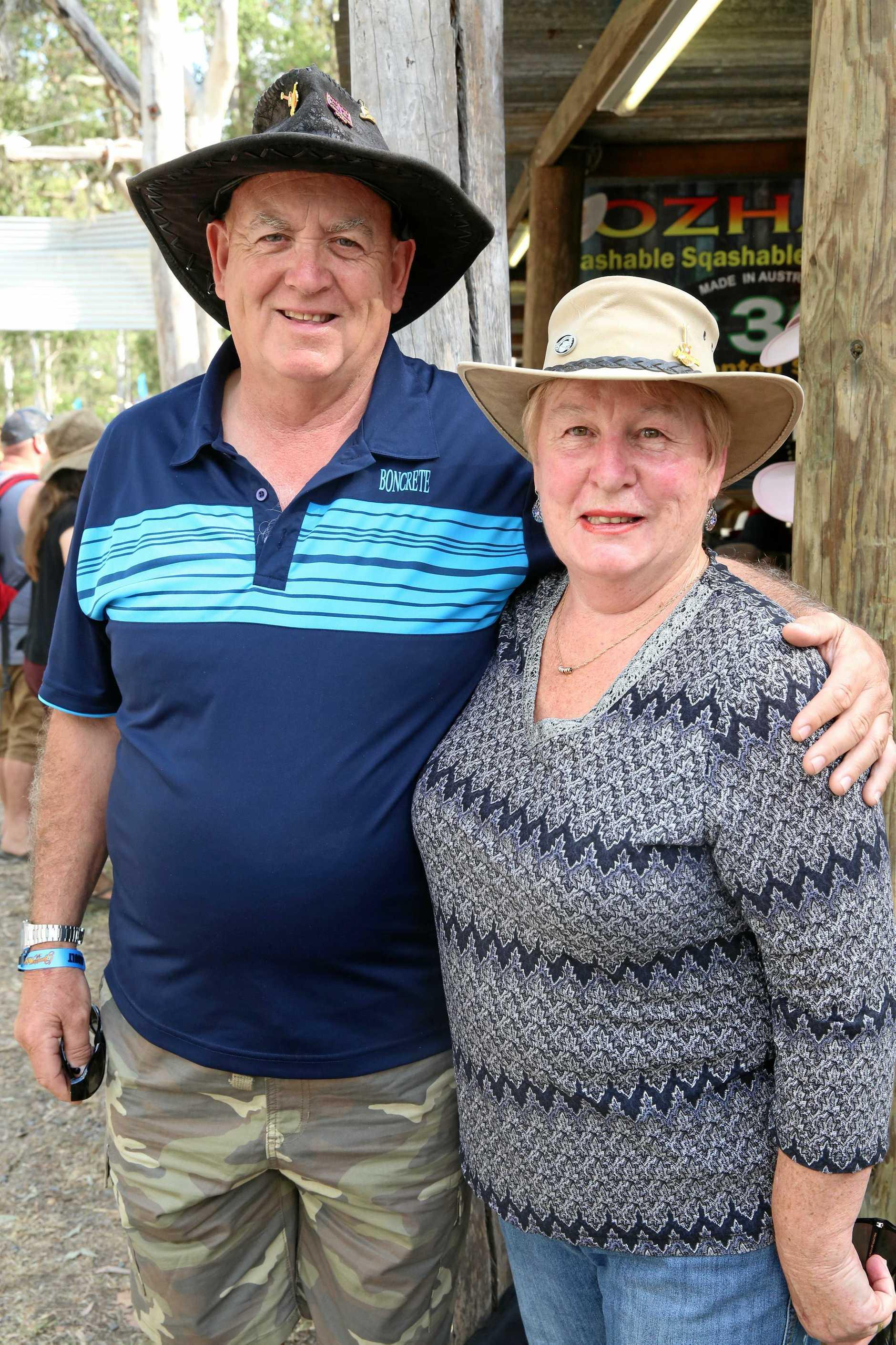 Pat and Lynn James, from Launceston.