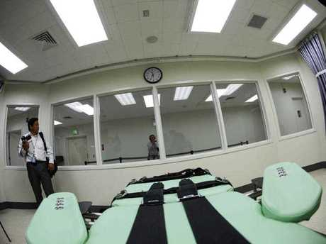 The interior of the lethal injection facility