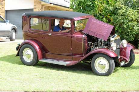 Mooloolaba resident Kevin Egan with his 1930 Ford Model A.