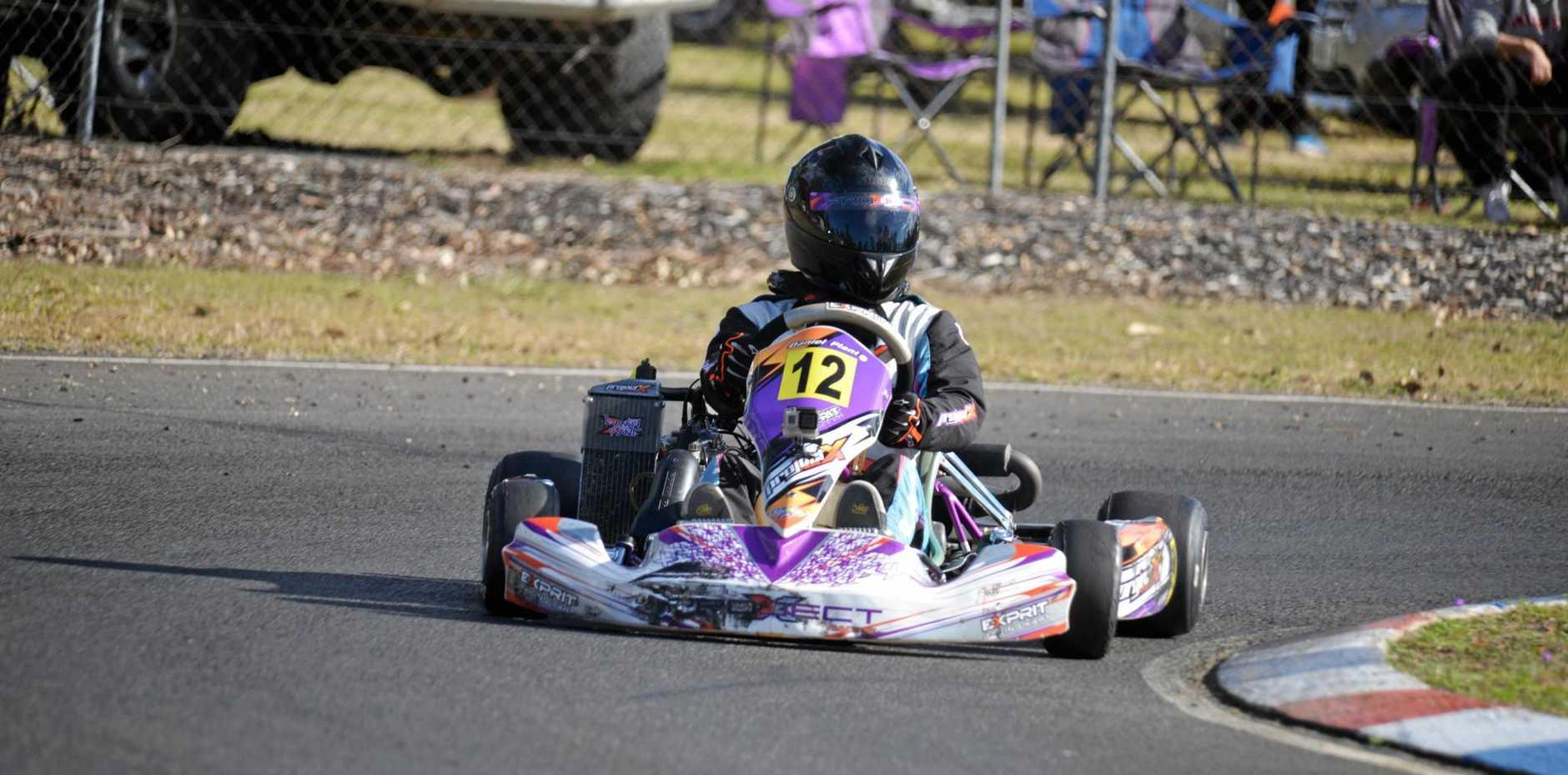 FIRST: Warwick driver Daniel Plant was a winner at the Warwick Karting Club meeting on Sunday.