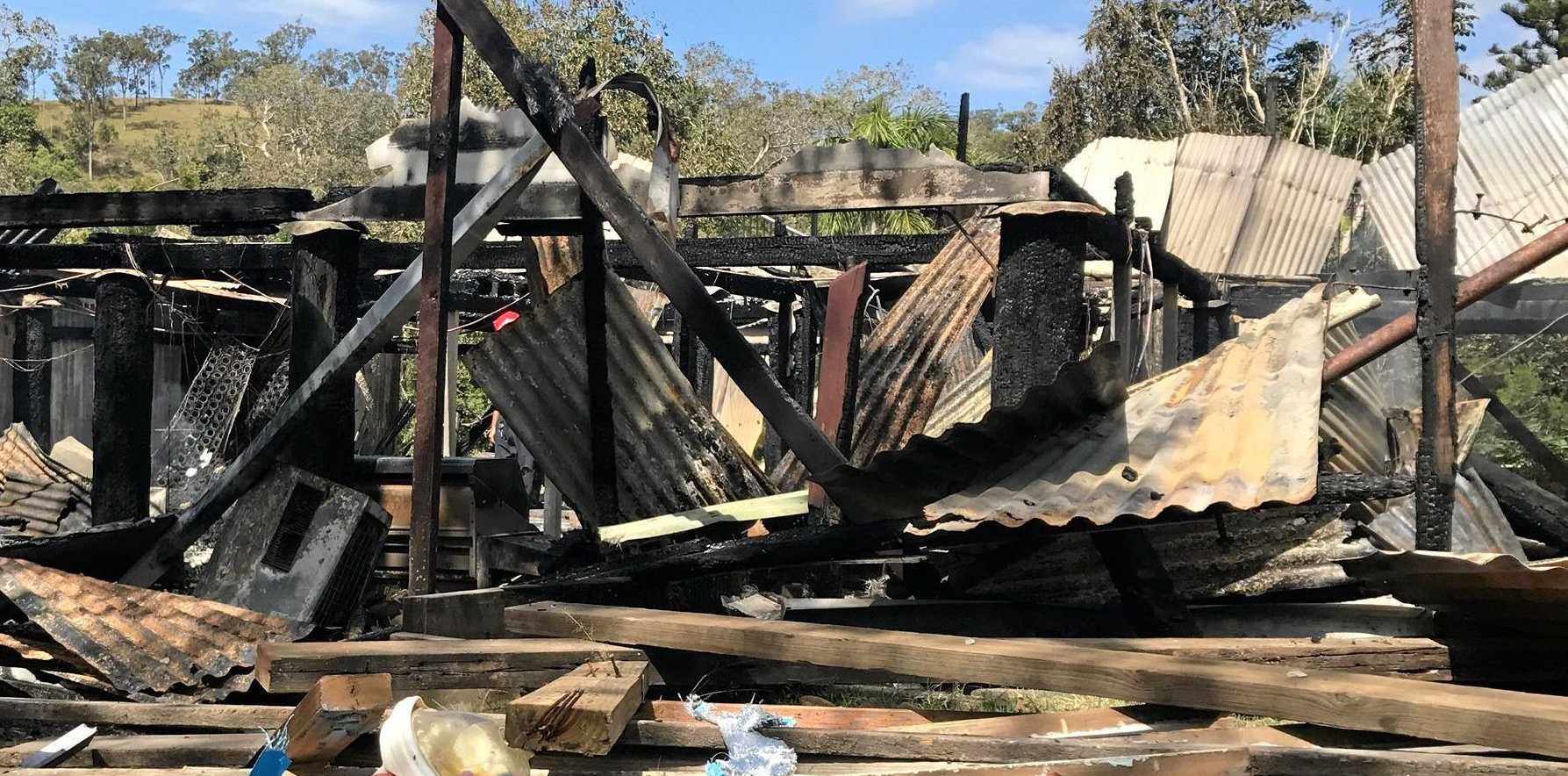 A fire destroyed a Sarina range home on Thursday night.