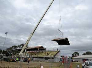 Roof comes off grandstand at showgrounds