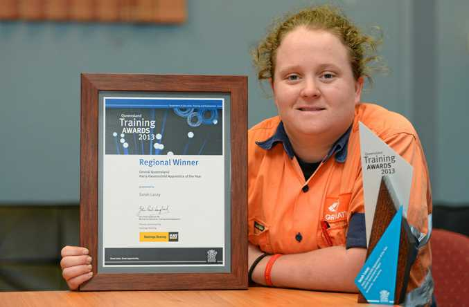 LEARNING CURVE: Sarah Lacey took out the CQ Apprentice of the Year in 2013 which inspired her to keep learning.