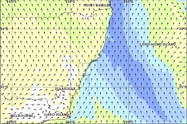 Marine winds of 20-25 knots are expected off the Coffs Coast today.