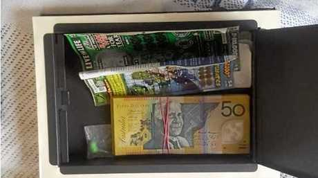 Police allegedly found a large quantity of methamphetamine and cocaine with an approximate value of $100,000 and a quantity of cash in excess of $6,000, at a Buddina home on Thursday.
